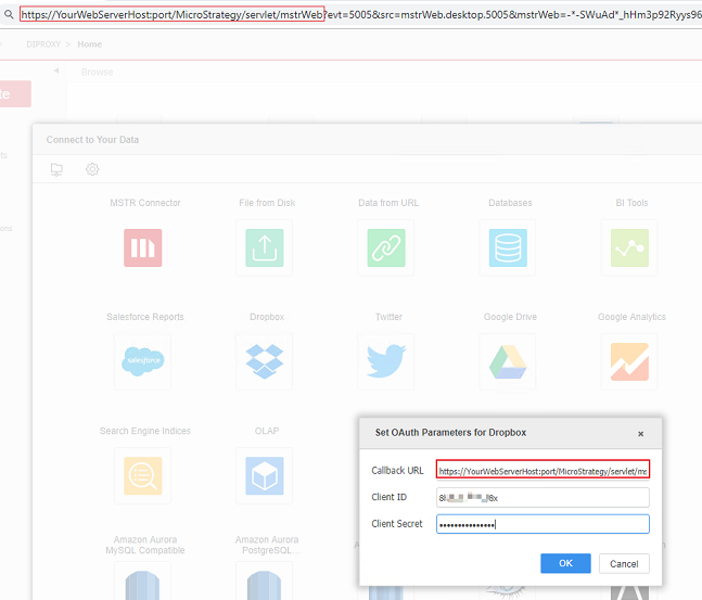 KB272383: How to configure and use the Dropbox Data Import