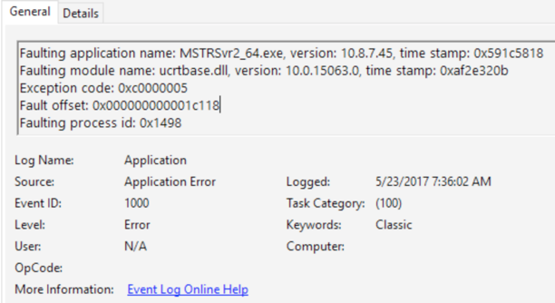 MicroStrategy Intelligence Server 10 7 and 10 8 fails to