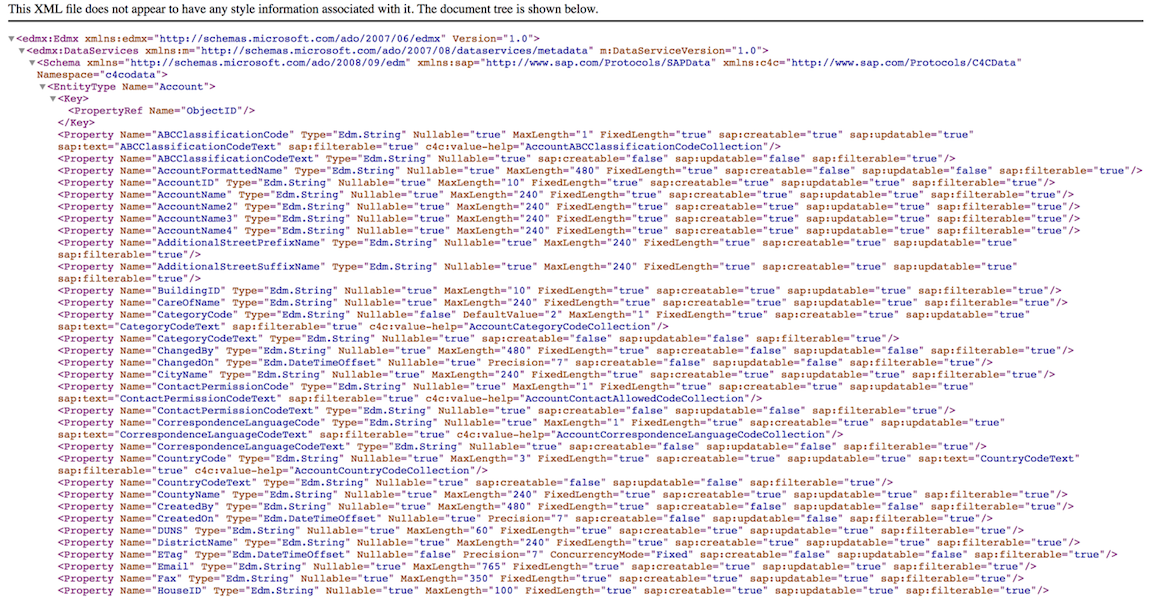 SAP CRM Cloud (C4C) Data Import via OData (Authenticated)