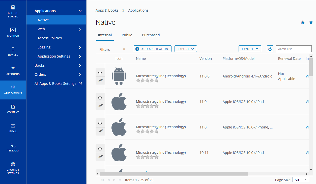EMM   IOS and Android   How to use MSTR AirWatch Integrated SDK