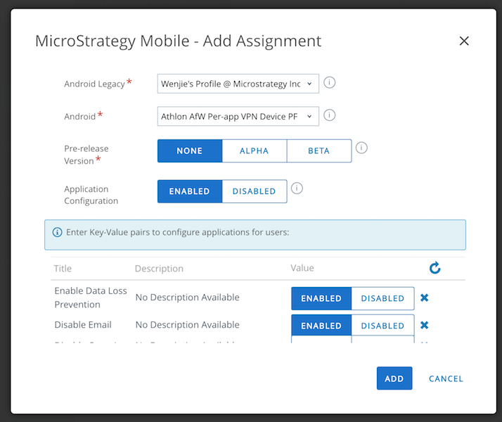 EMM | Android | How to leverage AppConfig on MSTR app and