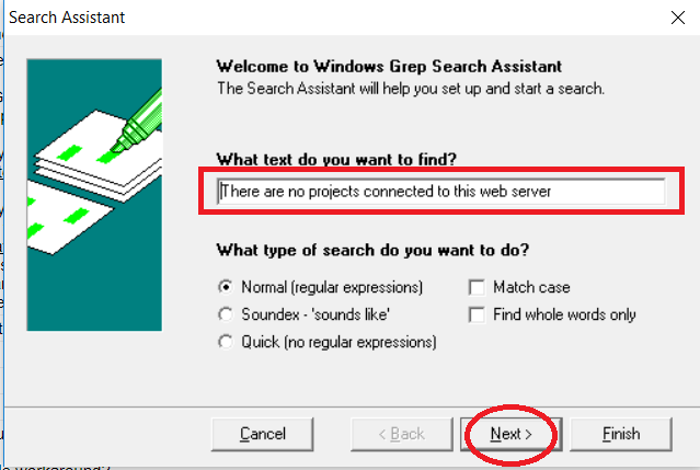 KB441582: How to use grep function on Windows