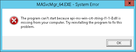 api-ms-win-crt-string-l1-1-0.dll error