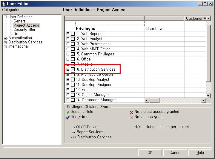 KB32279: Specific privileges are grayed out with check sign