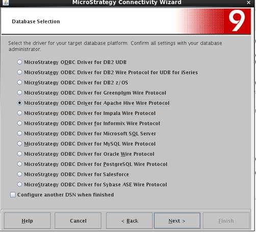 KB46467: How to configure MicroStrategy ODBC connector on