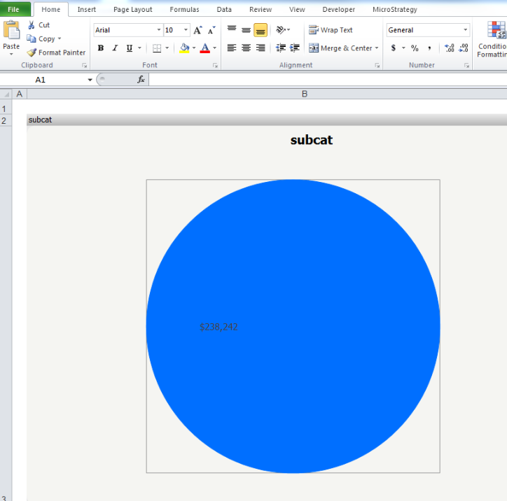 KB44557: A ring pie chart will display as a regular pie
