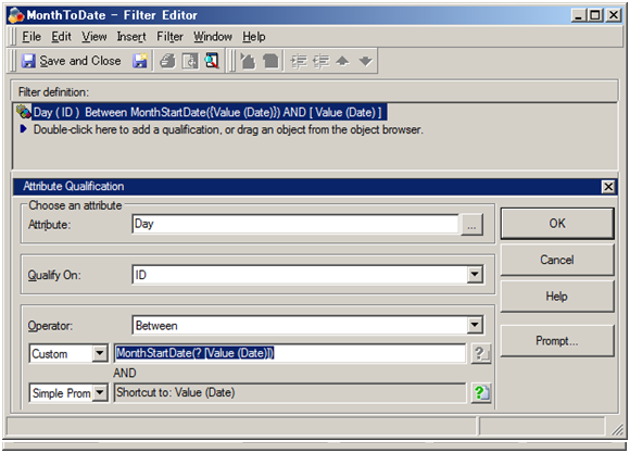 KB37450: How to create a filter to limit the rolling date range