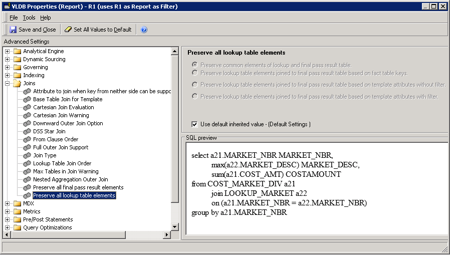 KB440739: Preserve and apply VLDB settings of a report when