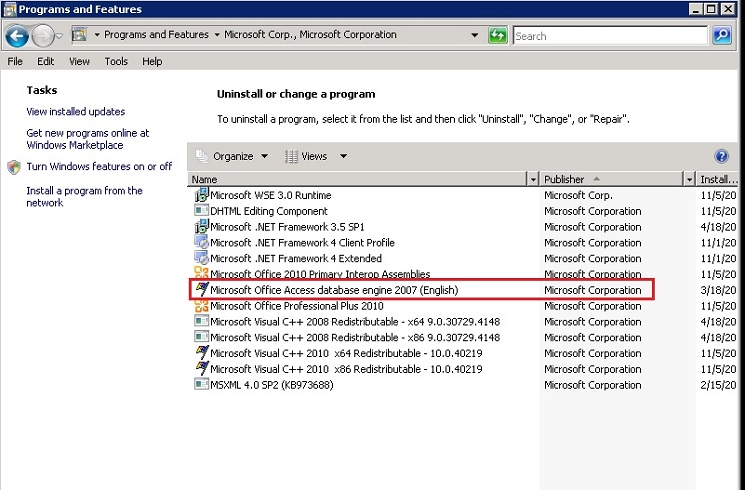 KB46516: Data source name not found and no default driver