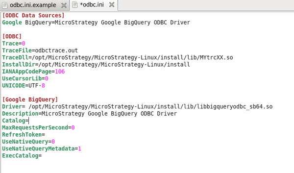 KB299897: How to configure the MicroStrategy Google BigQuery
