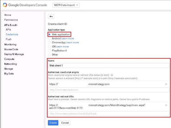 KB273451: How to configure Google API Data Import connector in