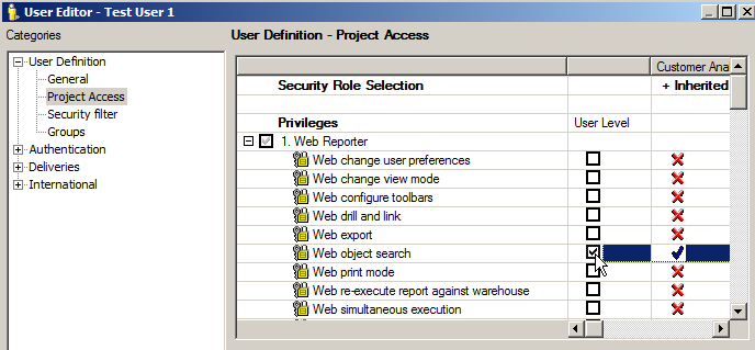 KB214806: What privileges are needed to access and use the User