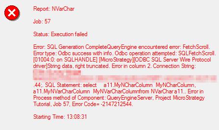 """KB275936: """"QueryEngine encountered error: FetchScroll…[ODBC"""