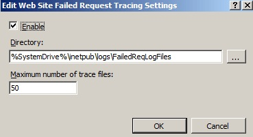 KB42860: How to enable failed-request tracing in Microsoft Internet
