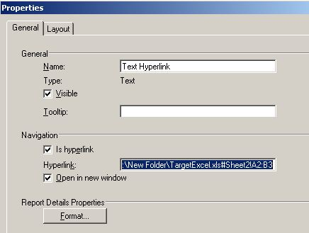 KB41737: How to use hyperlink in a Report Services Document