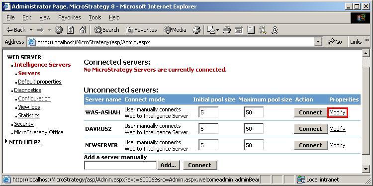 Schema van MicroStrategy Intelligence Server.