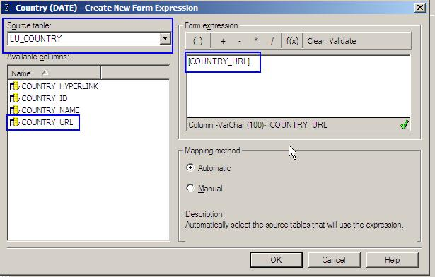 KB19021: How to create an attribute form as a hyperlink or uniform
