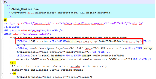 KB259082: How to find the build number of a MicroStrategy