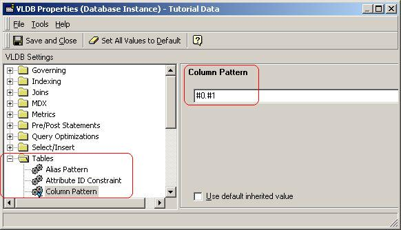 KB30665: How to change the syntax with column names and