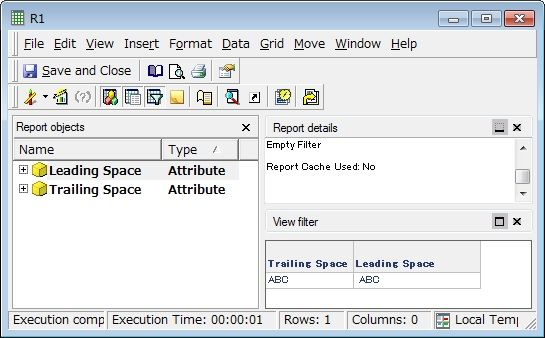 KB210446: The leading and trailing white spaces are not trimmed when