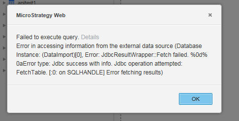 """KB263893: """"Failed to execute query…Error fetching results"""" when"""