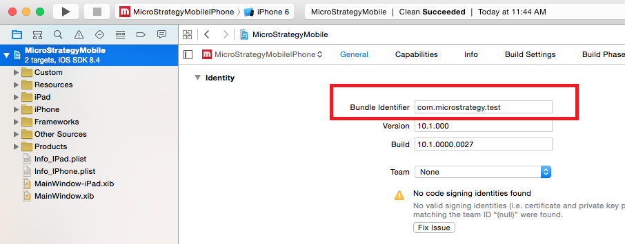 KB263234: How to Change the Bundle Identifier for the