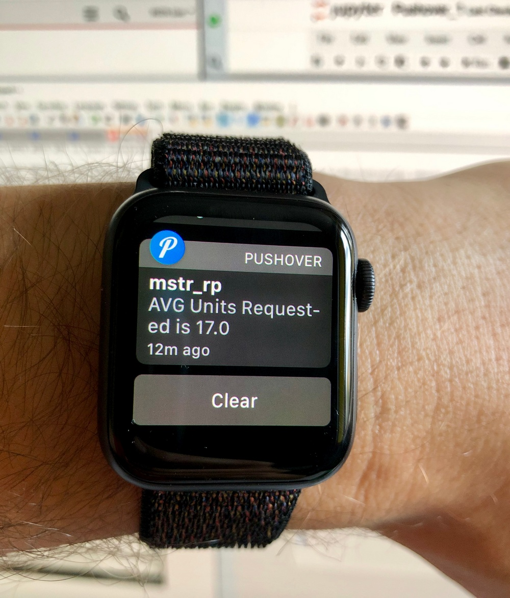 Using MSTR REST APIs to push notifications to Apple Watch