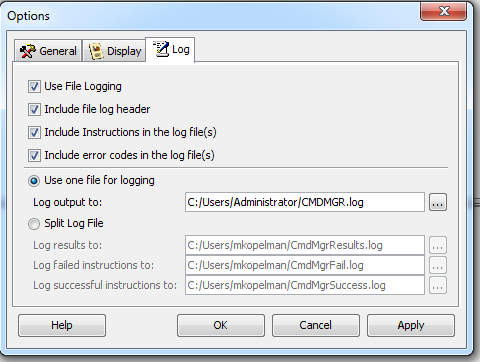 KB8667: How to enable logging in Command Manager