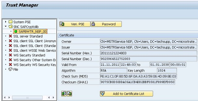 KB38303: How to set up a SNC connection to SAP BW using the
