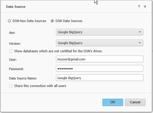 How to connect to Google Big Query