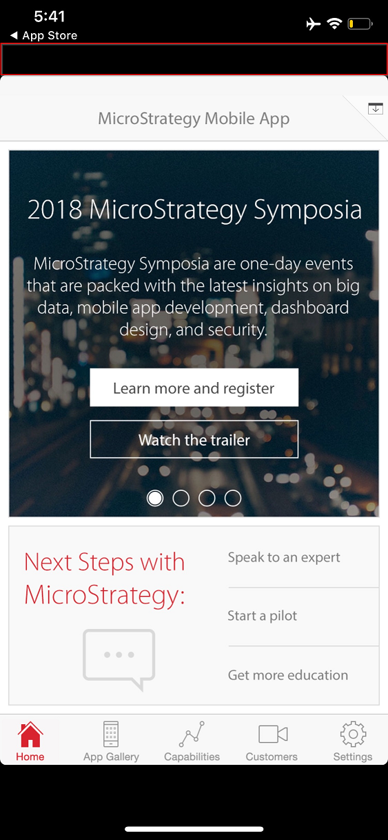 KB439620: MicroStrategy Mobile 10 10 App displays does not