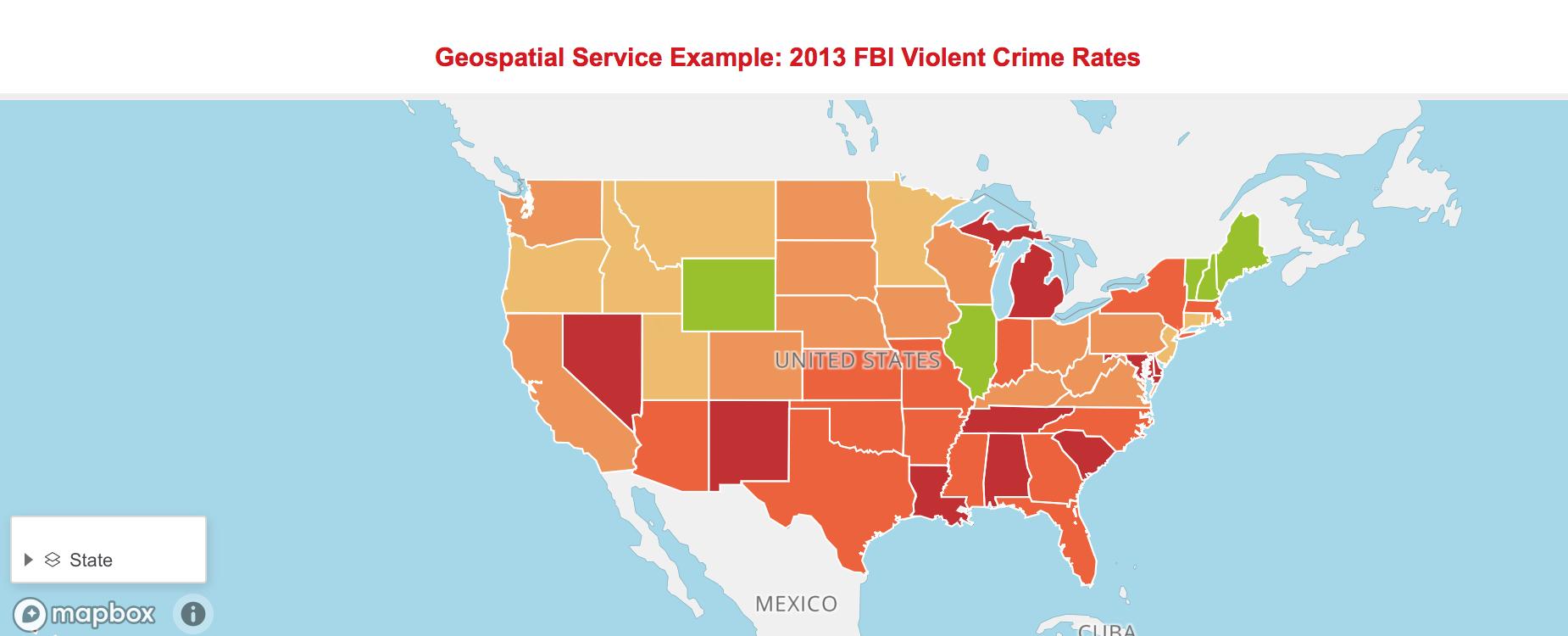 Mapbox Example FBI Data