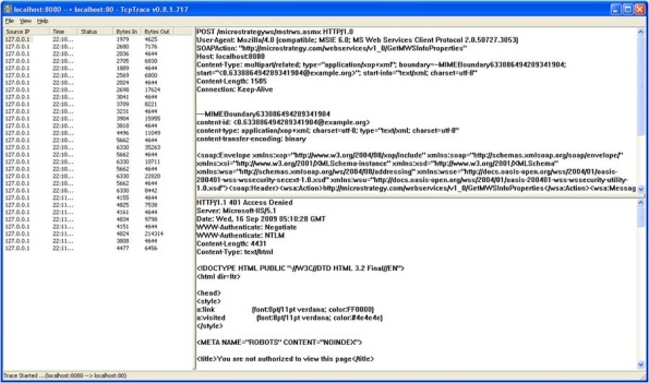 KB31534: How to enable HTTP tracing of Office and Web Services 9 0