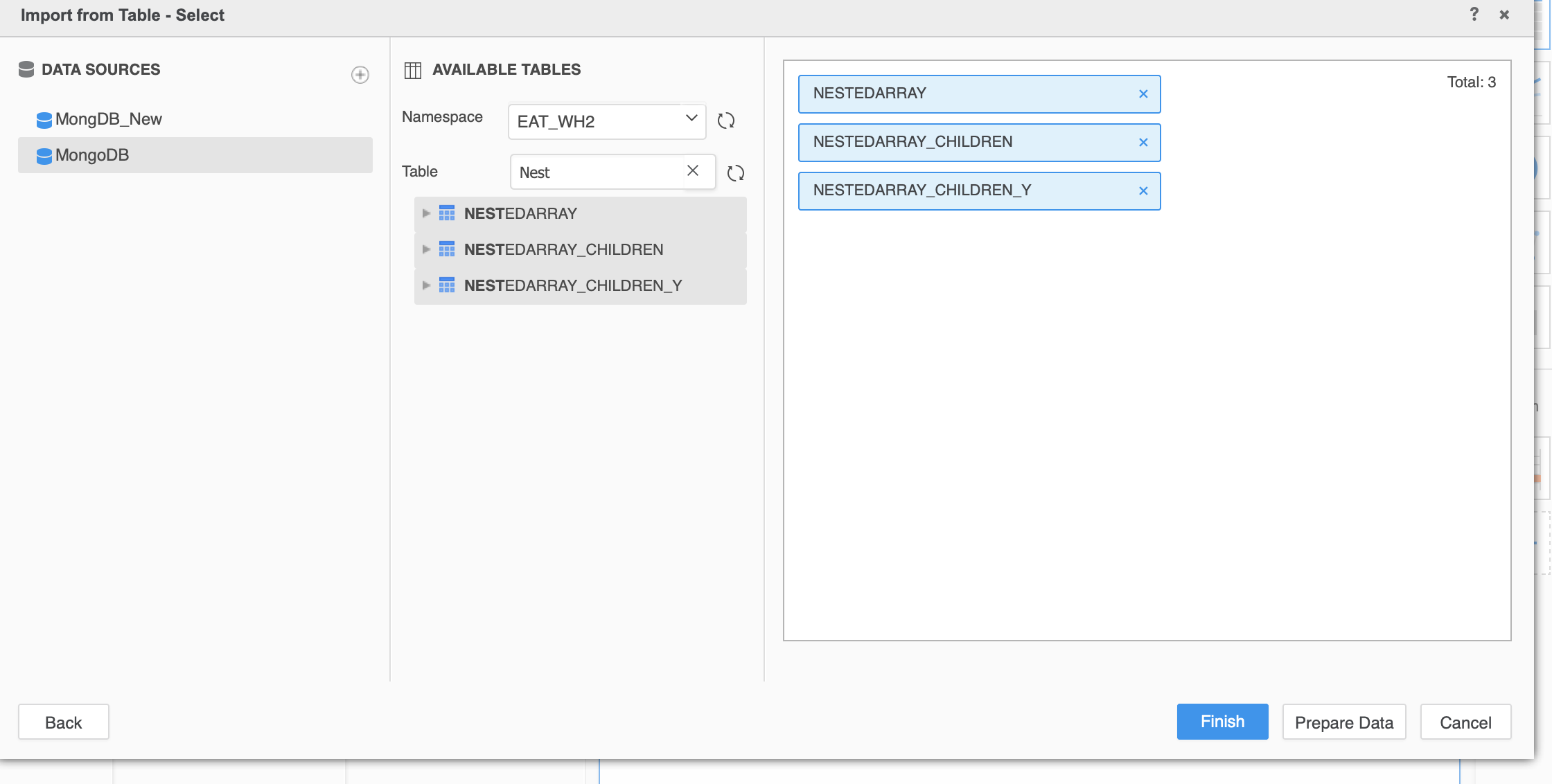 How to Access Nested Arrays in Mongo DB into MicroStrategy